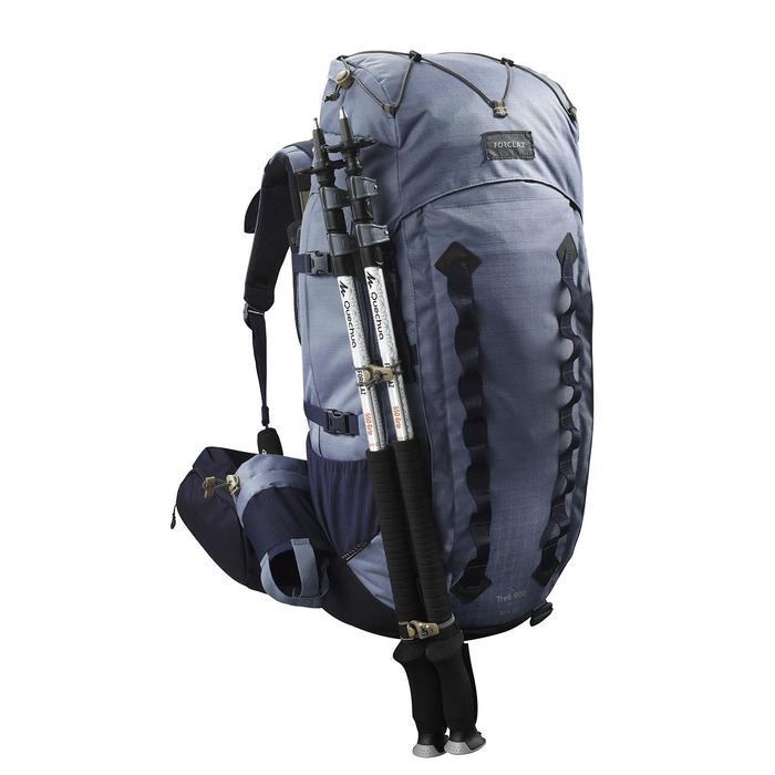 Rugzak voor bergtrekking dames Trek 900 Symbium 50+10 l blauw