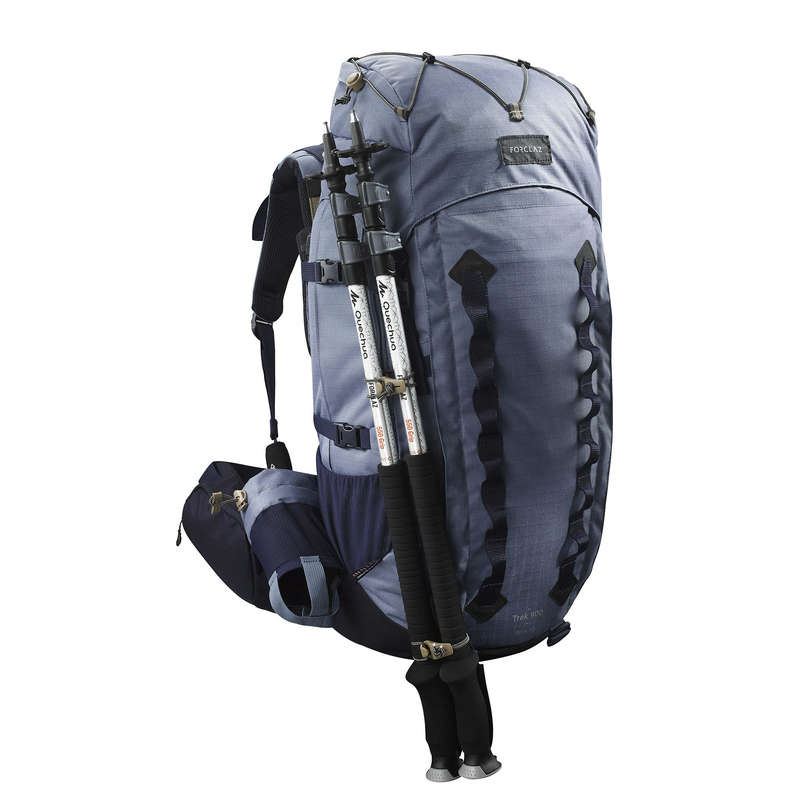 BACKPACKS 50L TO 90L MOUNTAIN TREK Trekking - Trek 900 50L + 10L Women's Rucksack - Blue FORCLAZ - Trekking