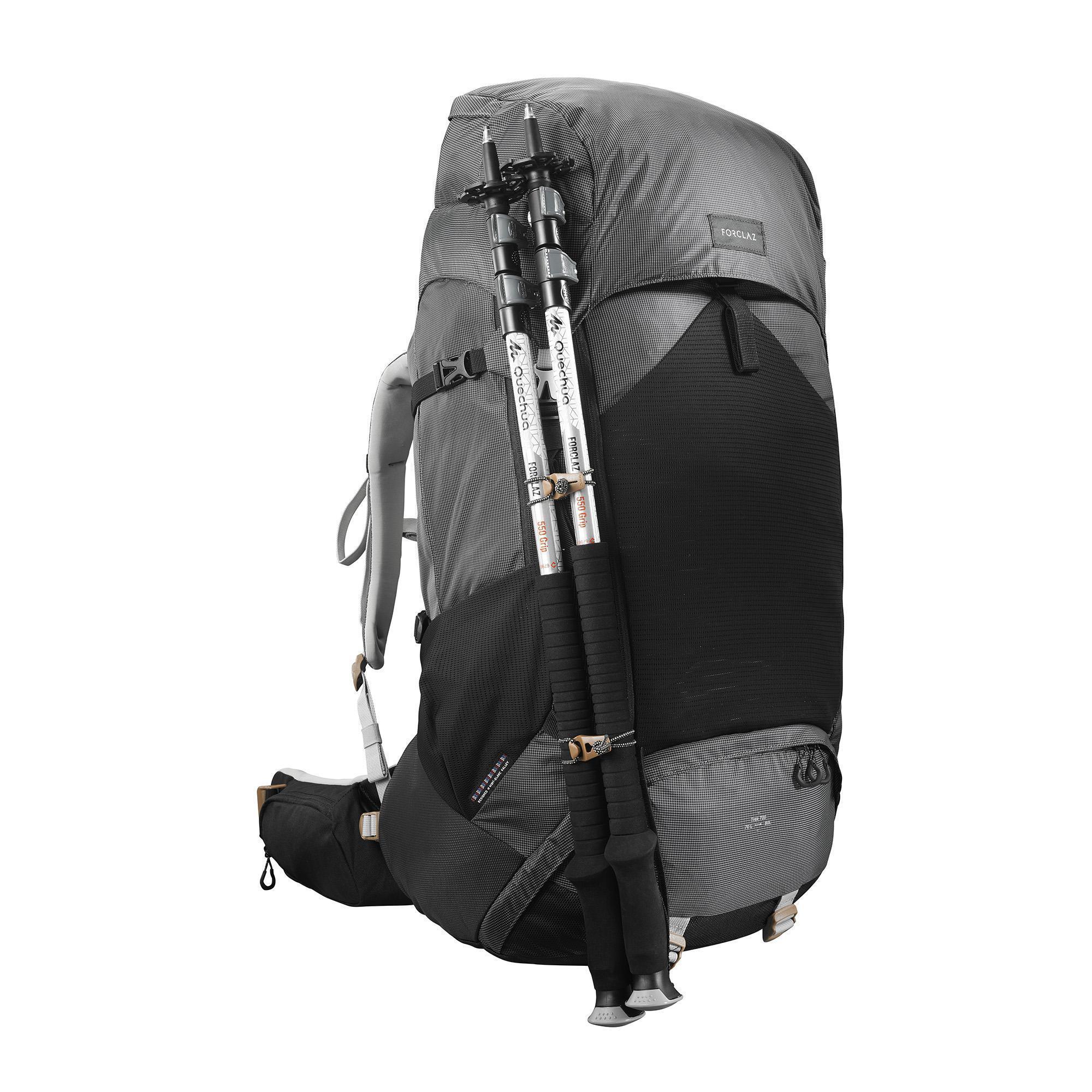 48427764f6a Forclaz Set van 2 halfronde opbergzakken voor rugzak… Forclaz Backpack voor  bergtrekking voor dames Tek 700 70+10L carbongrijs kopen met voordeel