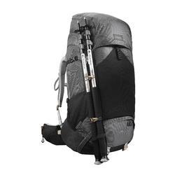 Backpack voor bergtrekking voor dames Tek 700 70+10L carbongrijs