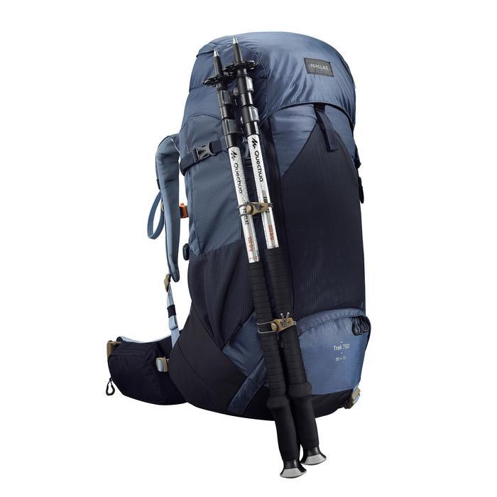 Rugzak voor bergtrekking dames - Trek 500 - 50+10 l blauw