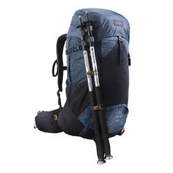 男款登山健行背包Trek 500 50 L +10 L-藍色
