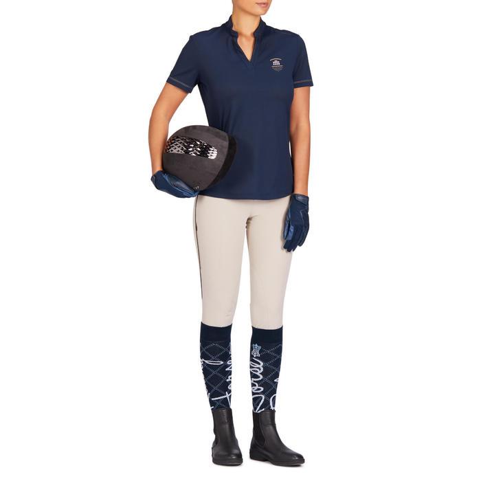 Calcetines equitación mujer 500 LIGHT azul marino y turquesa