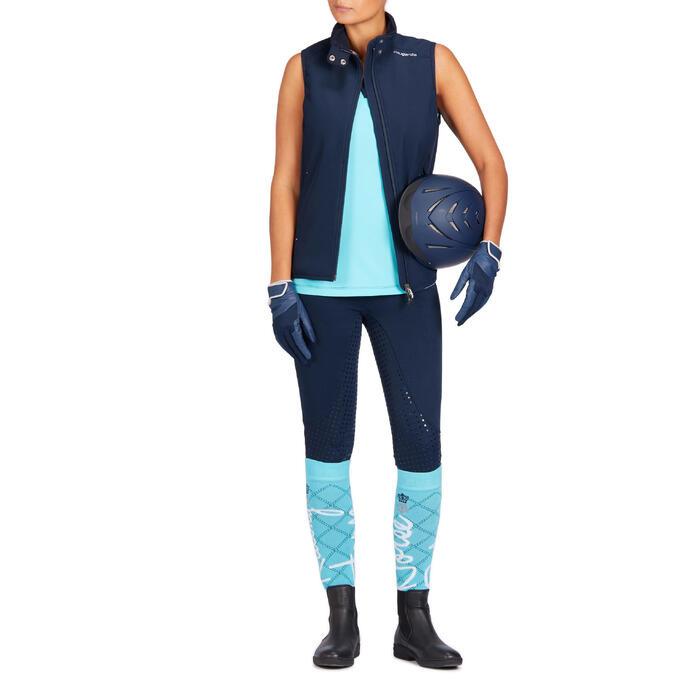 Reithose 580 Full Grip Silikonvollbesatz Damen marineblau