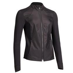 Camiseta-sudadera equitación 500 negro