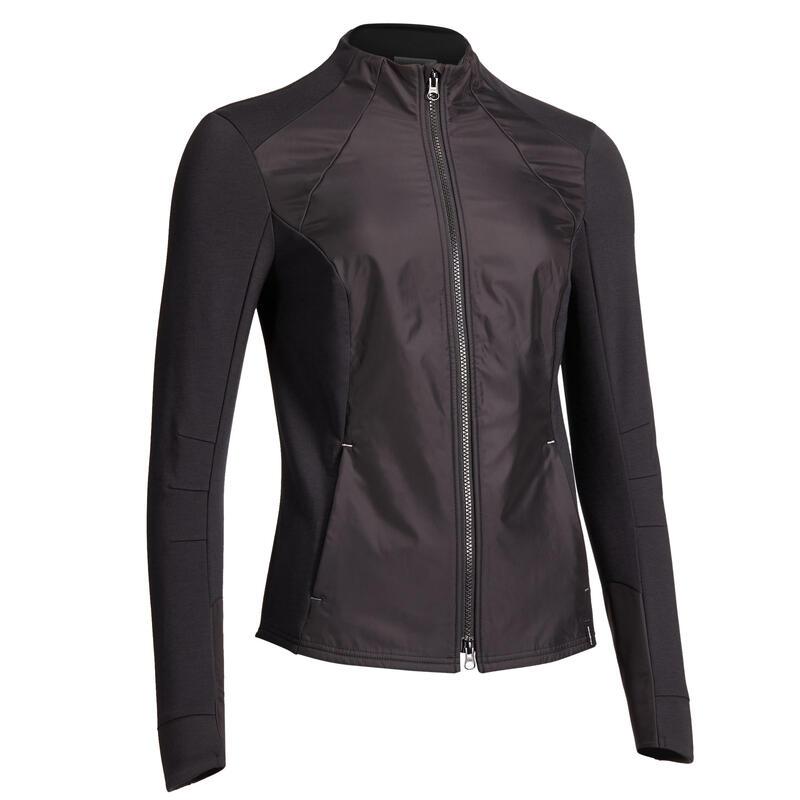 Sweat-shirt équitation femme 500 noir