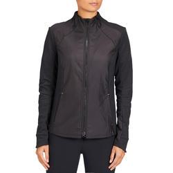 Sweatshirt 500 voor dames ruitersport zwart
