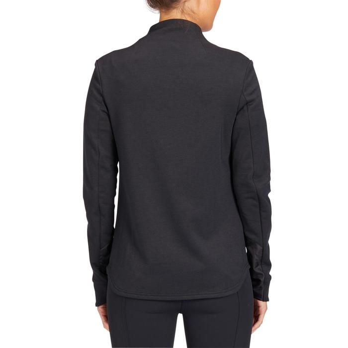 Sweatshirt 500 Damen schwarz