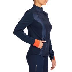 Sweatjacke 500 Damen marineblau/rot