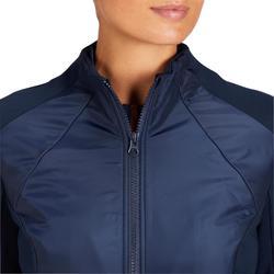 Reit-Sweatshirt 500 Damen marineblau/rot