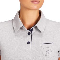 Poloshirt 140 Damen grau meliert