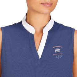 Camiseta Equitación Fouganza 500 Mesh Mujer Azulado Sin Mangas