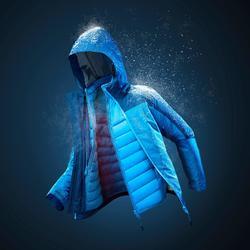 Warme waterdichte 3-in-1 jas voor de sneeuw jongens SH500 X-Warm 8-14 jaar blauw