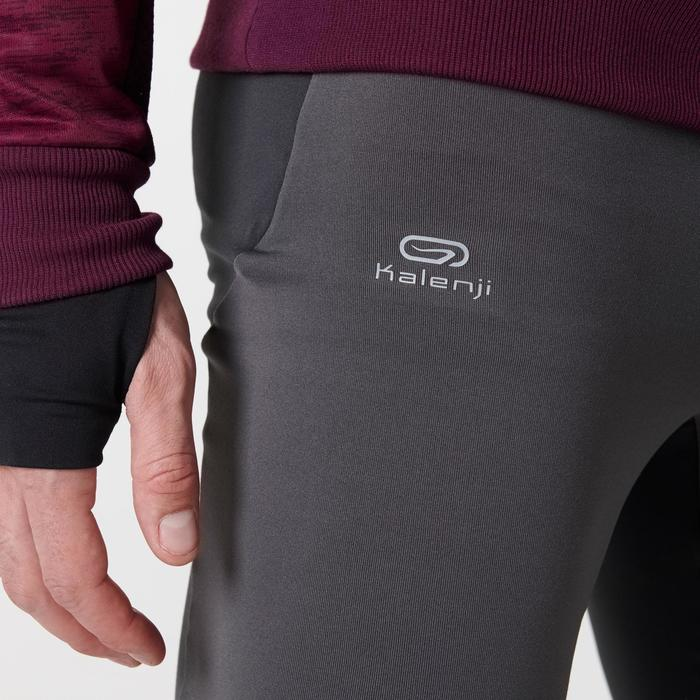 Laufhose Tights Run Warm+ Herren grau