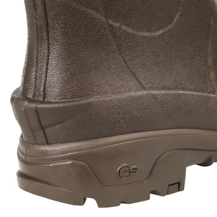 Gummistiefel 500 verstärkt warm Jagd braun