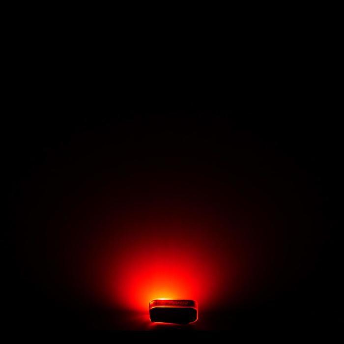Fietsverlichting op led CL 500 voor- en achteraan USB Vioo Clip oranje