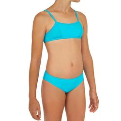 Meisjes bikini met topje zonder sluiting Bali blauw