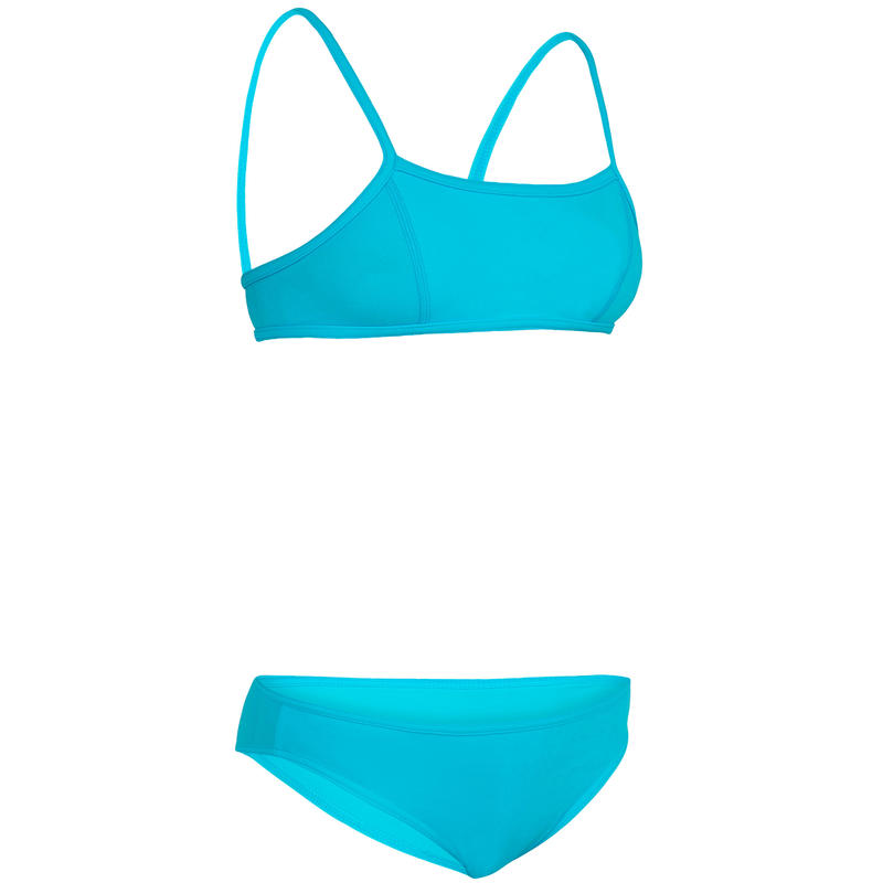 Bali Girls' Two-Piece Crop Top Swimsuit - Blue