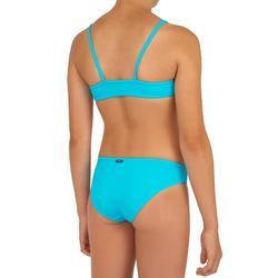Surfbikini met high neck top meisjes Bali 100 blauw