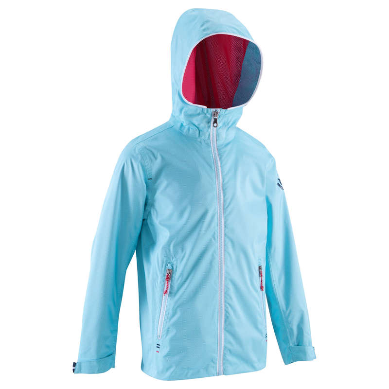 CRUISING RAINY AND COLD WEATHER JR Sailing - 100 Kids' Oilskin AO Blue New TRIBORD - Sailing Clothing