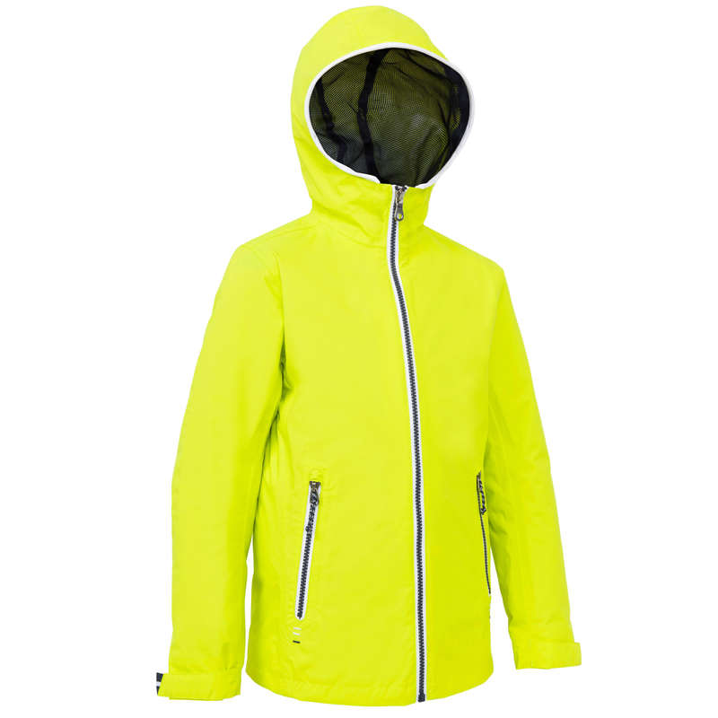 CRUISING RAINY AND COLD WEATHER JR Sailing - 100 Kids' Oilskin - Yellow EU TRIBORD - Sailing Clothing