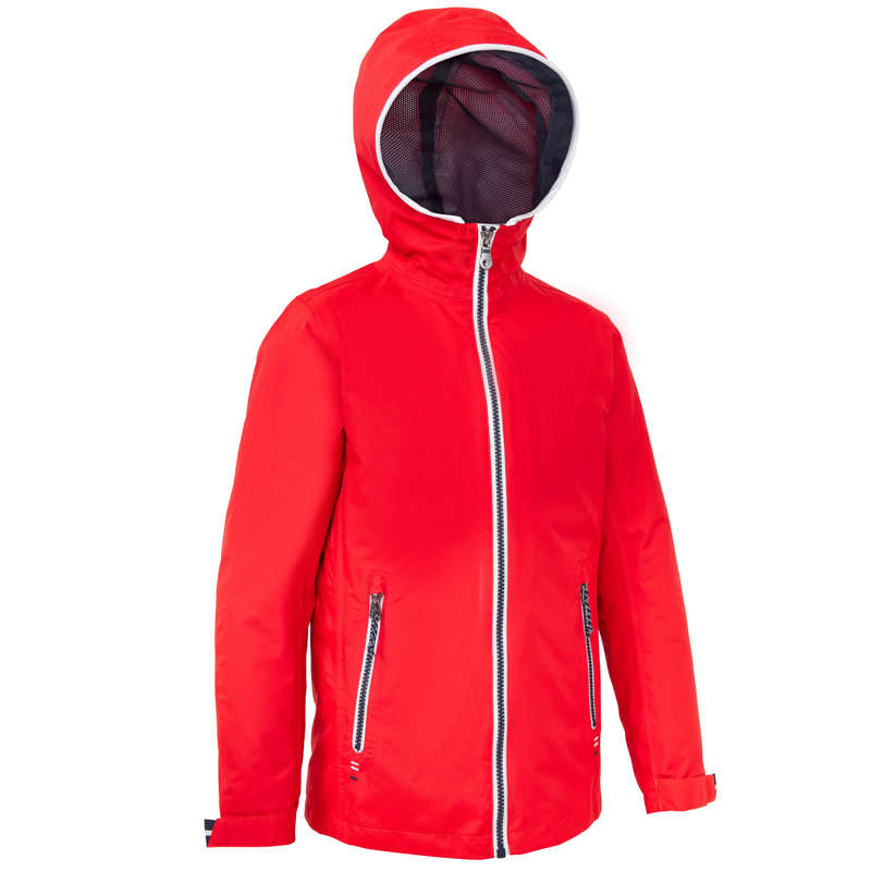 CRUISING RAINY AND COLD WEATHER JR Sailing - 100 Kids' Oilskin - Red New TRIBORD - Sailing Clothing