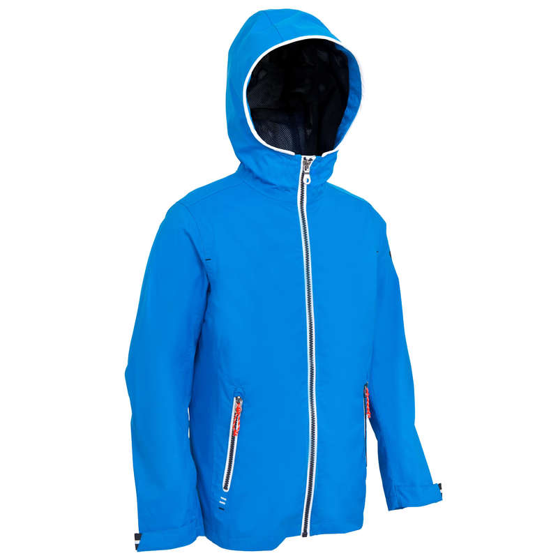 CRUISING RAINY AND COLD WEATHER JR Sailing - 100 Kids' Oilskin Bri Blue New TRIBORD - Sailing Clothing