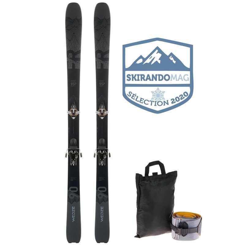 SKI TOURING EQUIPMENT Skiing - Ski FR 950 - Black WEDZE - Ski Equipment