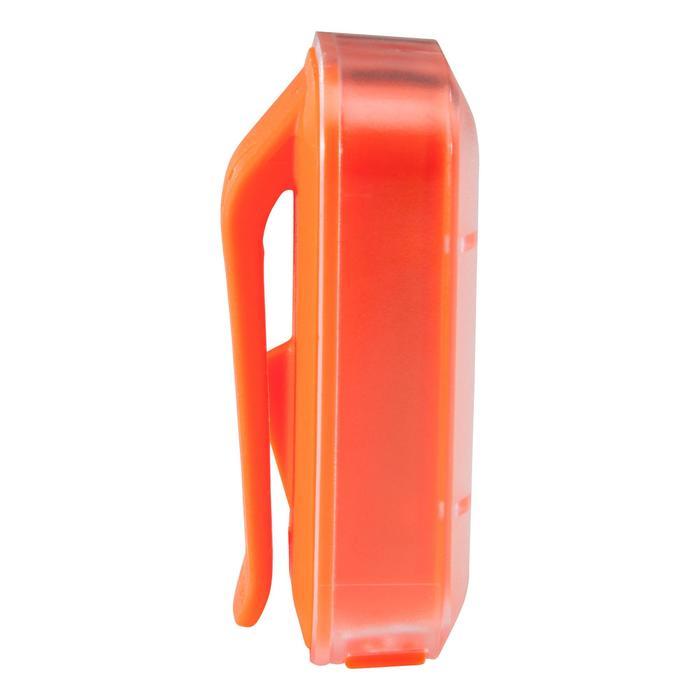 Fietsverlichting op led CL 500 voor- en achteraan oranje USB Vioo Clip
