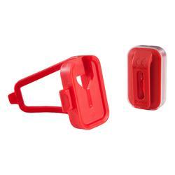 Fietsverlichting op led CL 500 voor- en achteraan rood USB Vioo Clip