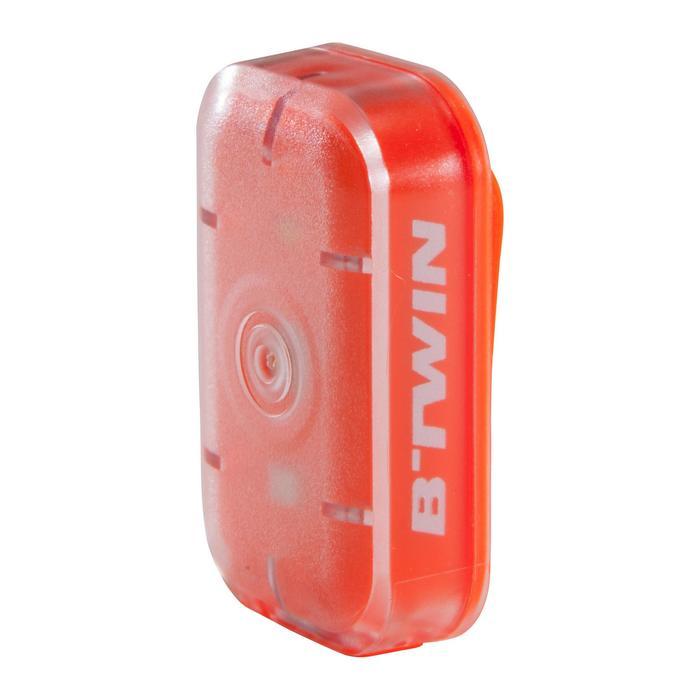 LUZ LED BICICLETA VIOO CLIP 500 KIT DELANTERO Y TRASERO NARANJA USB