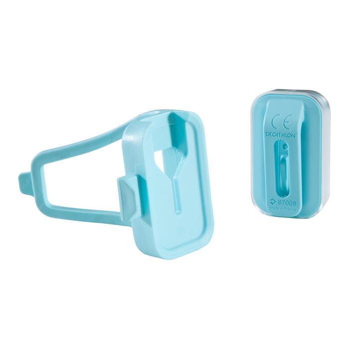 Fietsverlichting op led CL 500 voor- en achteraan USB Vioo Clip blauw