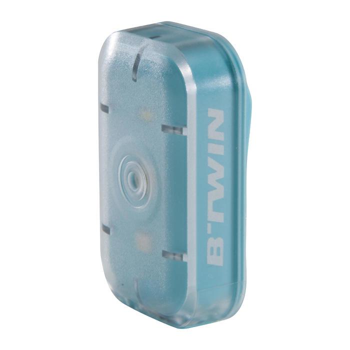 Fietsverlichting op led CL 500 voor- en achteraan blauw USB Vioo Clip