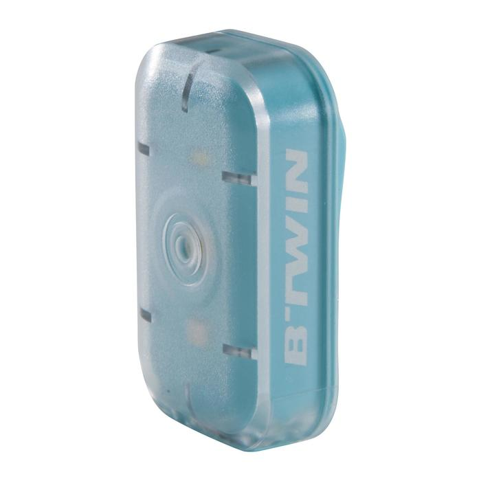 LUZ LED BICICLETA VIOO CLIP 500 KIT DELANTERO Y TRASERO AZUL USB