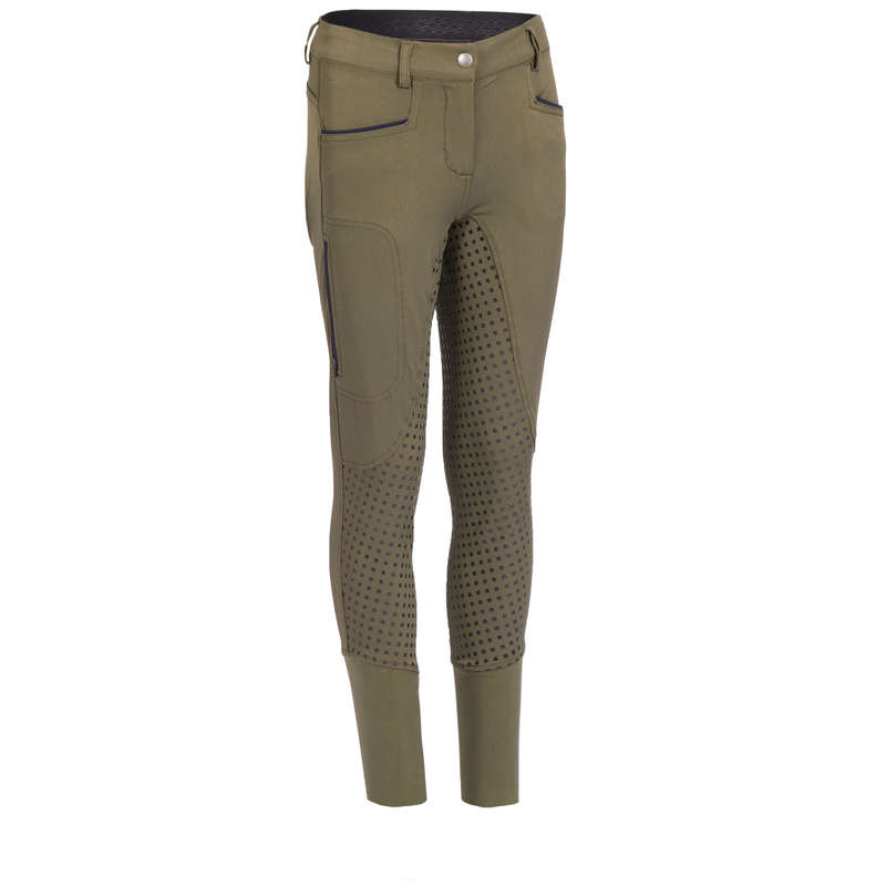 Îmbrăcăminte echitație vreme caldă Echitatie - Pantalon 580 FULLGRIP damă FOUGANZA - Echitatie