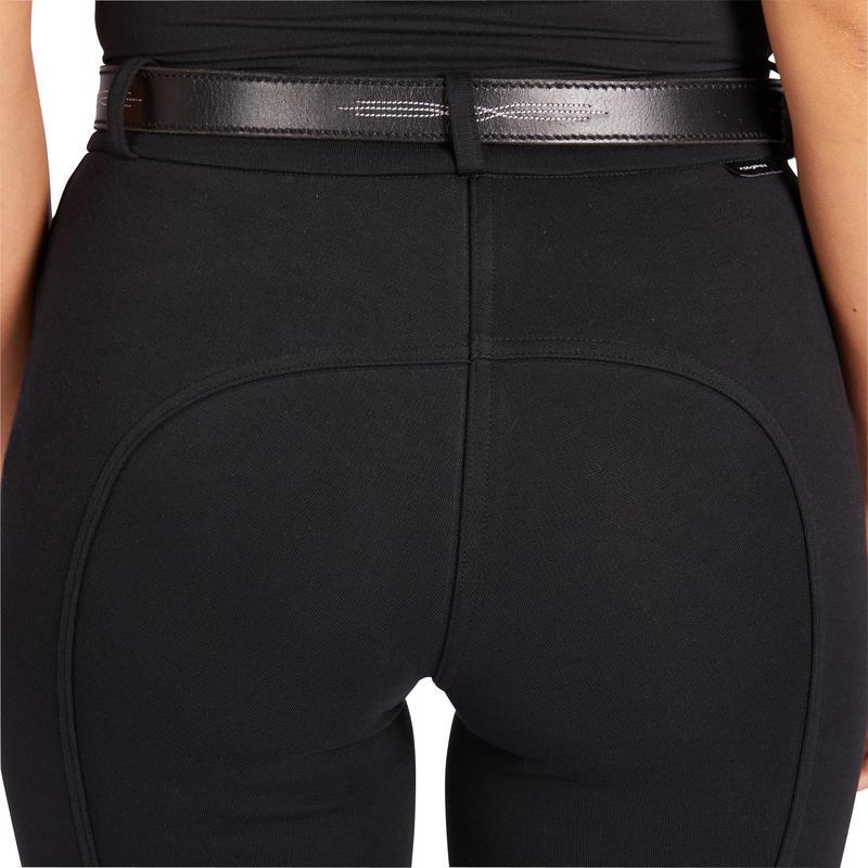 กางเกงขี่ม้าสำหรับผู้หญิงรุ่น 100 (สีดำ)