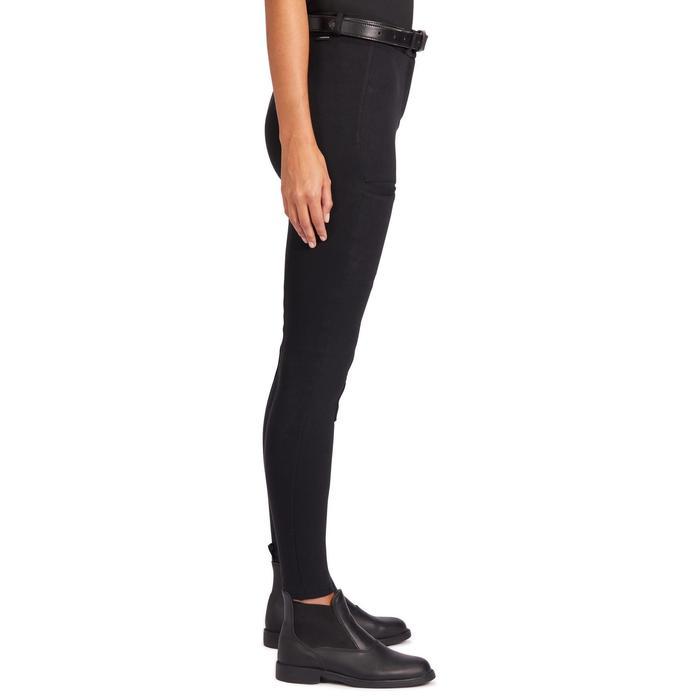 Reithose 100 Kniebesatz Damen schwarz