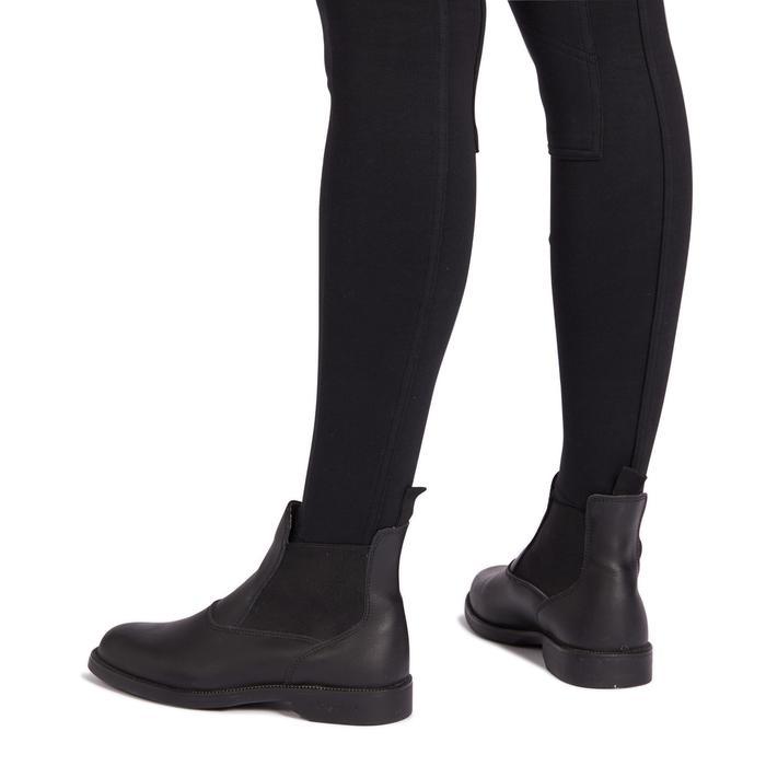 Paardrijbroek voor dames 100 zwart