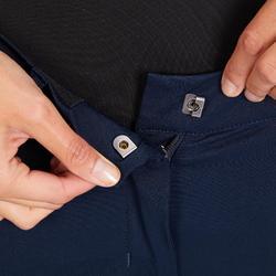 Pantalón equitación mujer 980 LIGHT badana de silicona azul marino