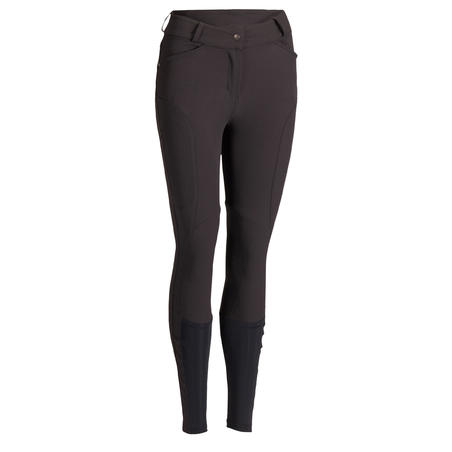 560 Jump Women's Horse Riding Silicone Patch Jodhpurs - Black