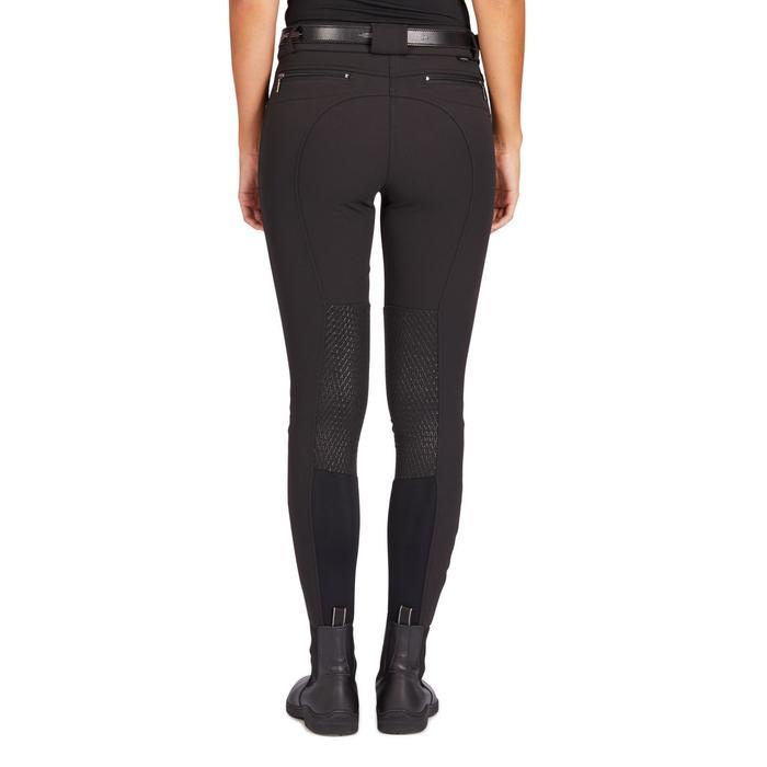 Pantalon équitation femme 560 JUMP basanes silicone noir