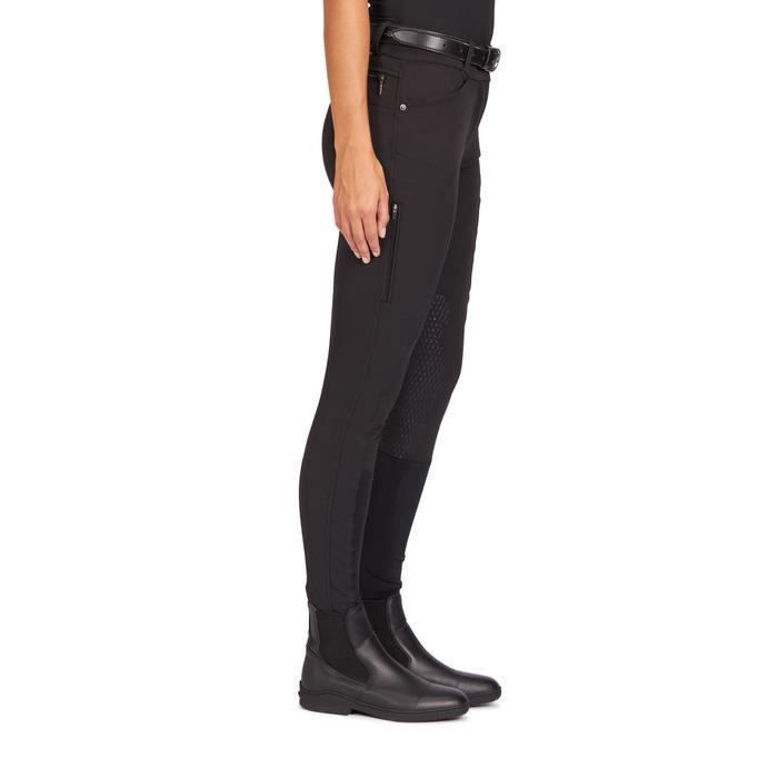 Reithose 560 Jump Silikonbesatz Damen schwarz