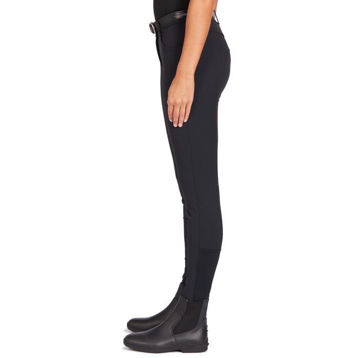 Reithose 500 rutschfester Kniebesatz Damen schwarz