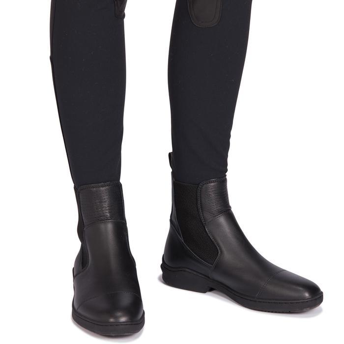 Pantalon équitation femme 500 basanes agrippantes noir