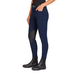 500 Women's Grippy Horse Riding Jodhpurs - Navy