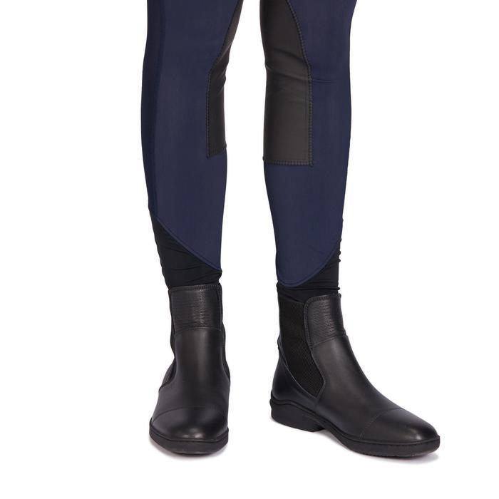 Legging équitation femme marine 100 LIGHT