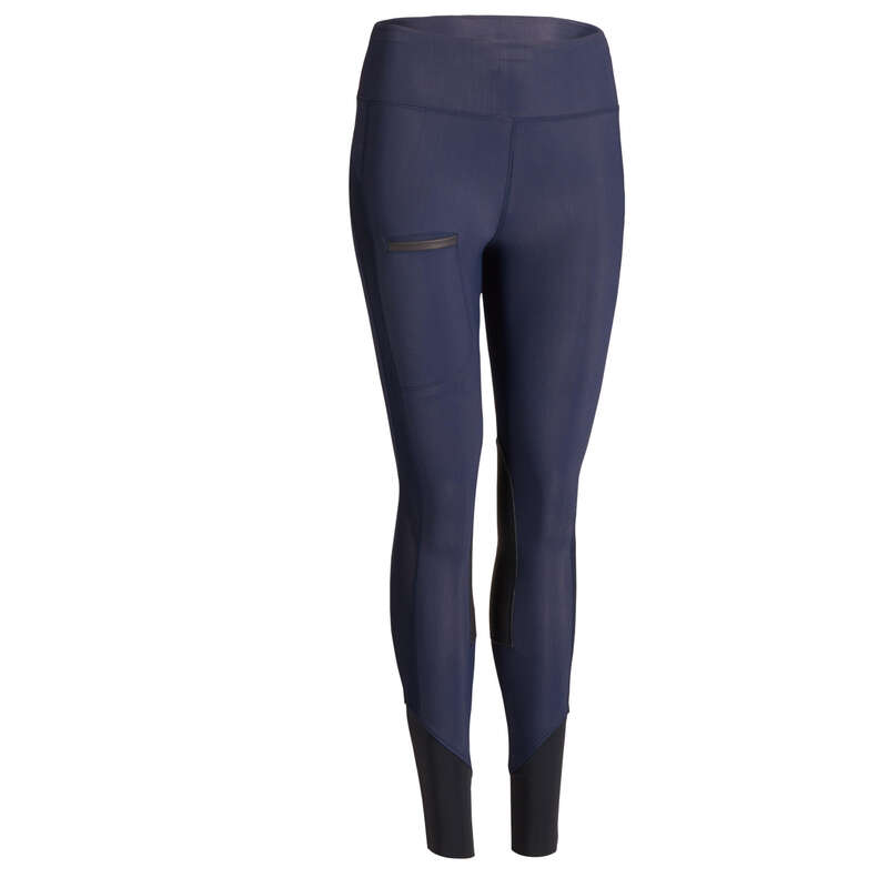 HABILLEMENT EQUIT FEMME TEMPS CHAUD Populärt - Ridtights 100 LIGHT Dam blå FOUGANZA - Underdelar