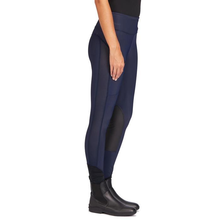 Rijbroek voor dames ruitersport 100 Light marineblauw
