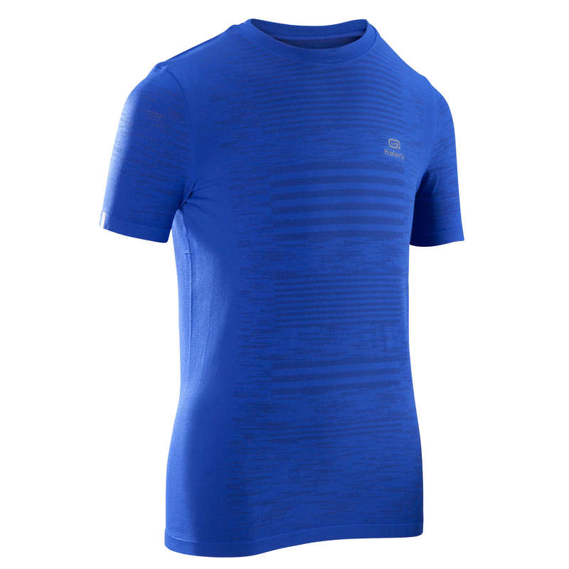 KIDS ATHLETICS CLOTHES ACCESS Clothing - AT 300 T-SHIRT SKINCARE BLUE KALENJI - By Sport