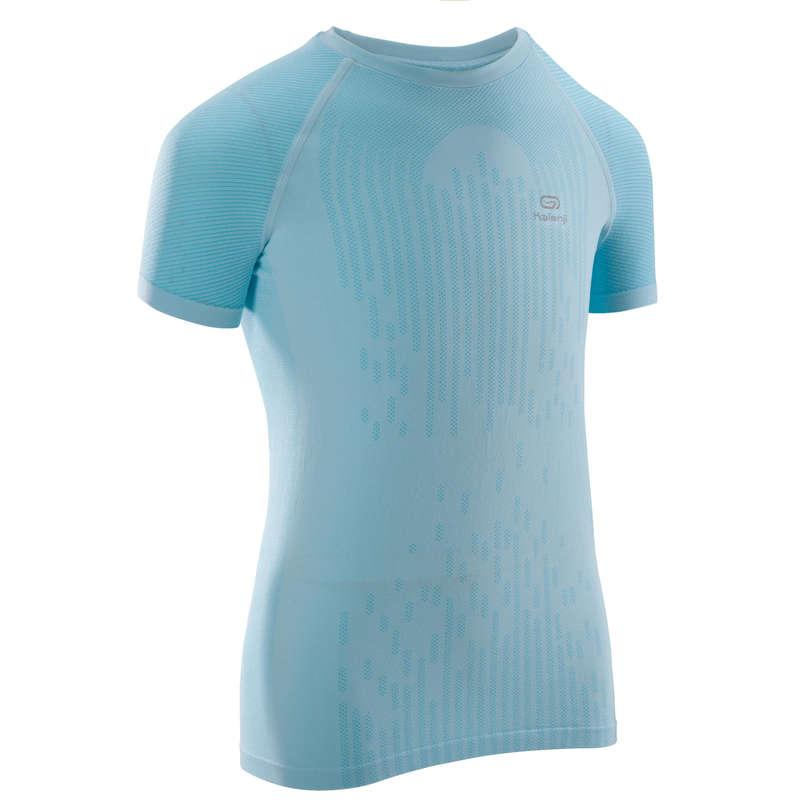 ÎMBRĂCĂMINTE ȘI ACCESORII ATLETISM COPII Alergare pe asfalt, Jogging, Trail, Atletism - Tricou Atletism Albastru Fete  KALENJI - Imbracaminte copii